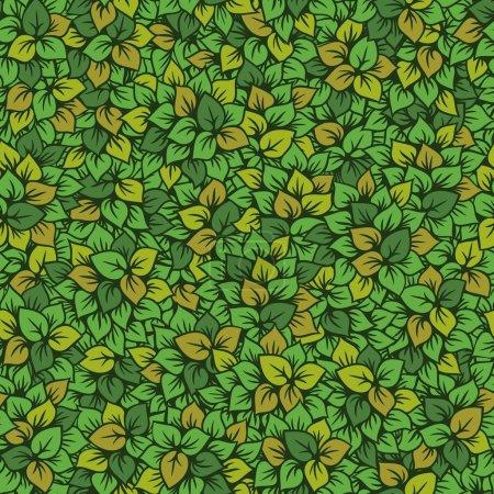Illustration for Foliage seamless pattern - Royalty Free Image