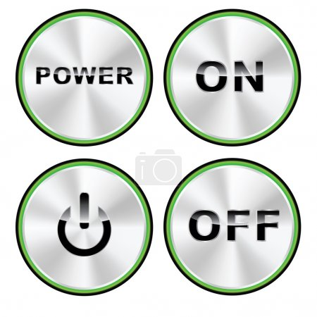 Vector ON - OFF Power button set