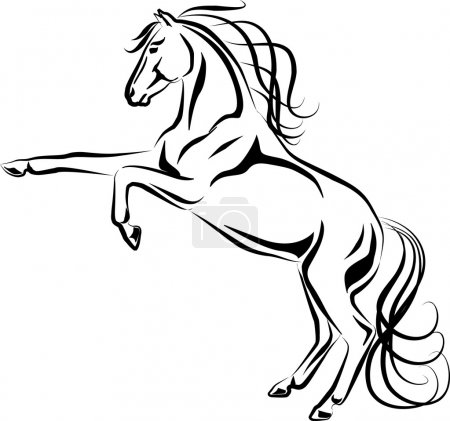 Illustration pour Illustration vectorielle d'un cheval d'élevage - image libre de droit