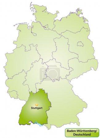 El mapa de Baden-Wuerttemberg