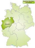 Map of North Rhine-Westphalia