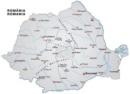 El mapa de Rumania
