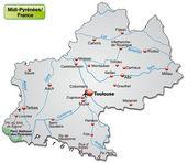 Map of Midi-Pyrenees