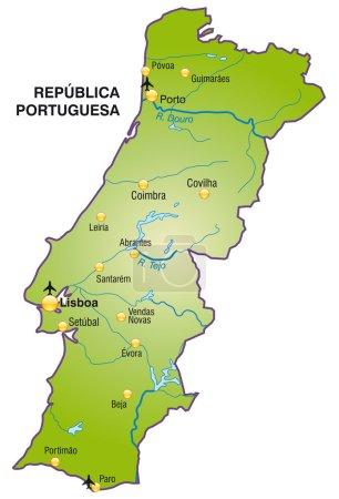 Mapa online de Portugal