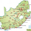 Map of south africa as an overview map in pastel g...