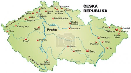 Map of Czech Republic