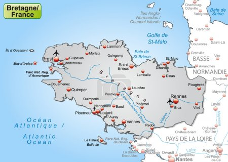 Mapa online de Bretaña