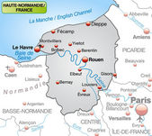 Map of Upper Normandy