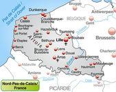 Map of North-pas-de-calais
