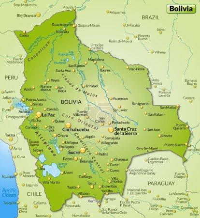 Mapa online de Bolivia