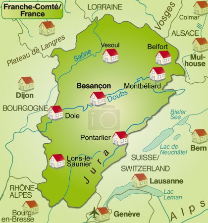 Map of Franche-Comte