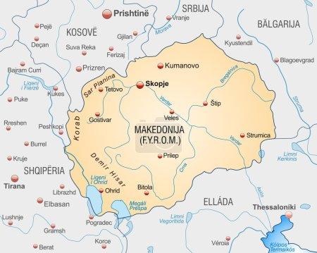 El mapa de Macedonia