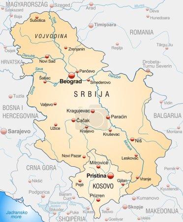 Mapa online de Serbia