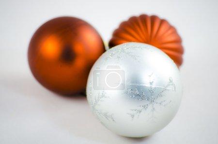 Photo for Three christmas balls - Royalty Free Image