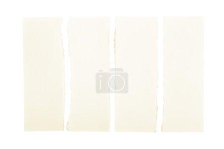 Photo pour Bandes de papier jaune déchiré et isolé sur fond blanc - image libre de droit