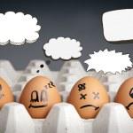 Постер, плакат: Thought Balloon Egg Characters