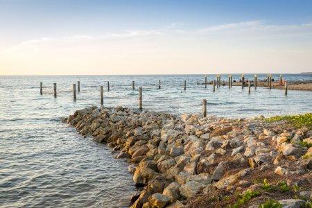 Photo pour Belle vue sur l'océan à Amity Point, Stradbroke Island, Queensland Australie - image libre de droit