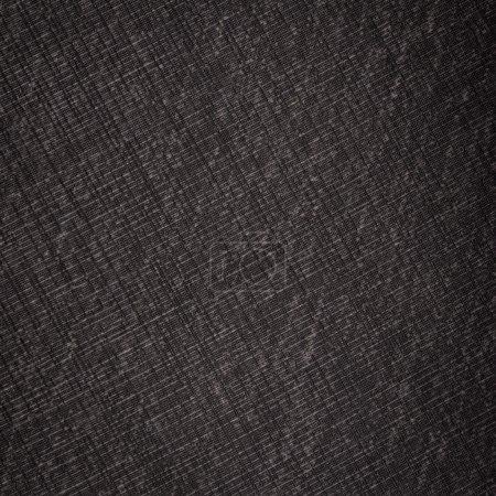 Photo pour Texture détaillée de lin noir profond comme fond - image libre de droit