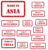 Made In Asia Stamps
