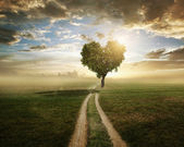 """Постер, картина, фотообои """"Дерево любви"""""""