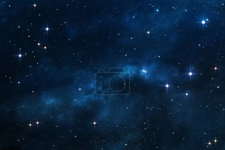 Blue Nebula space background