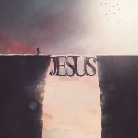 "Bridge - the inscription ""Jesus"""
