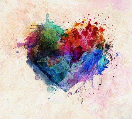 Splash background. Heart