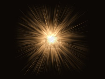 Photo pour Lumière brillante orange Birilliant - image libre de droit