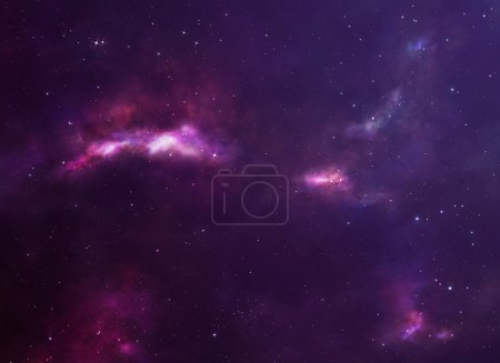 Photo for Beautiful purple deep space background with many stars. - Royalty Free Image
