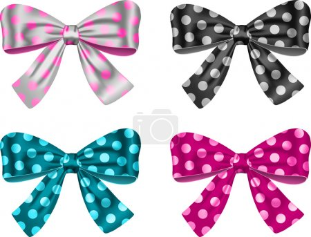 Illustration for Gift bows for festive decorations. Vector illustration - Royalty Free Image