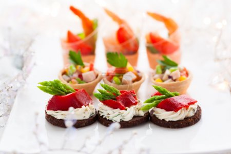 Photo for Holiday Appetizers on the platter - Royalty Free Image