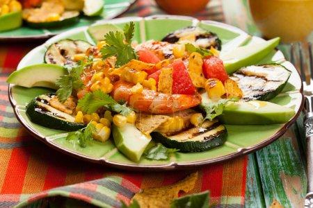 Mexican Grilled Shrimp Salad