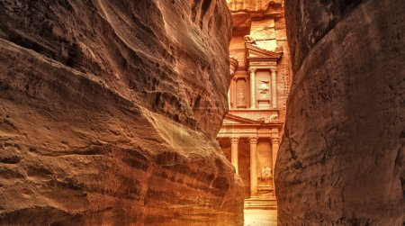 Siq in Ancient City of Petra, Jordan