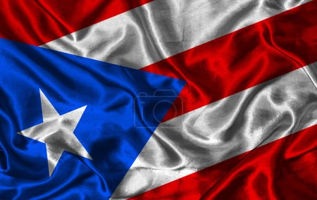 Silk Flag of Puerto Rico