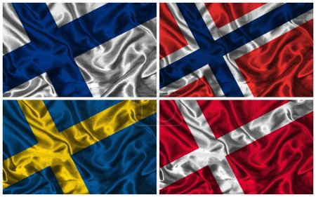 Silk Flags of Scandinavia