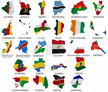 Africa countries flag maps Part1