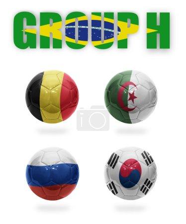 Brazil. Group H. Realistic Football balls