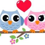 Two sweet owls in love...