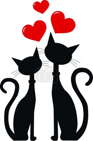 Illustration for Two cats in love - Royalty Free Image