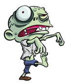 Cartoon illustration of cute green zombie