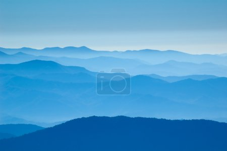 Photo for Amazing view from Clingman's Dome, Great Smoky Mountains National Park, Border of North Carolina and Tennessee - Royalty Free Image