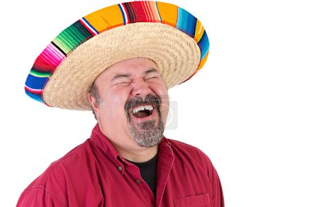 Happy Guy with Mexican Sombrero Hat