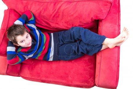 Niño en su zona de confort