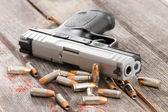 Pistole s rozptýleným odrážky a kazet