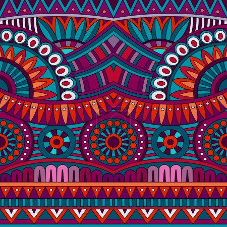 Abstract vector tribal ethnic background seamless pattern