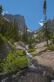Letovou palubu mountain a hallett peak-colorado rockies
