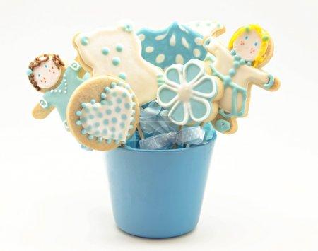 Photo pour Biscuits décorés de bébé - image libre de droit