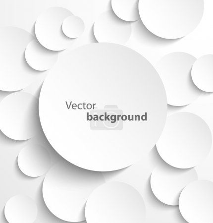 Illustration for Paper circle banner with drop shadows. Vector illustration - Royalty Free Image