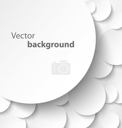 Paper banner on circle background