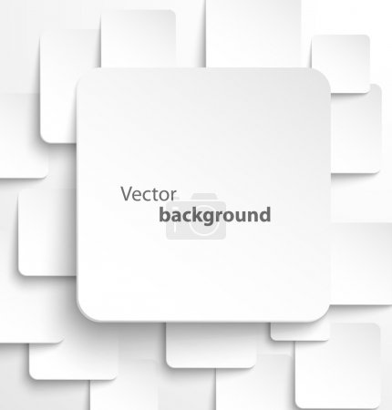 Illustration for Paper square banner with drop shadows on white background. Vector illustration - Royalty Free Image